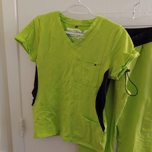 Lime green benefit medical scrubs